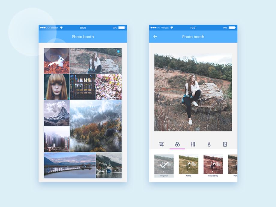 Photo Booth Editing UI