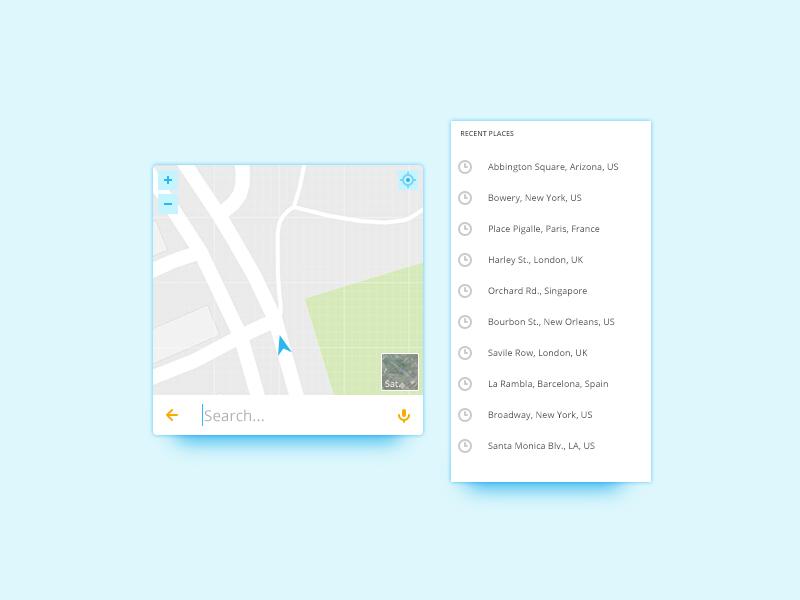 Map Widget UI