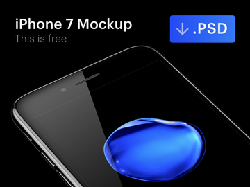 iPhone 7 Jet Black Free Mockup [PSD] preview picture