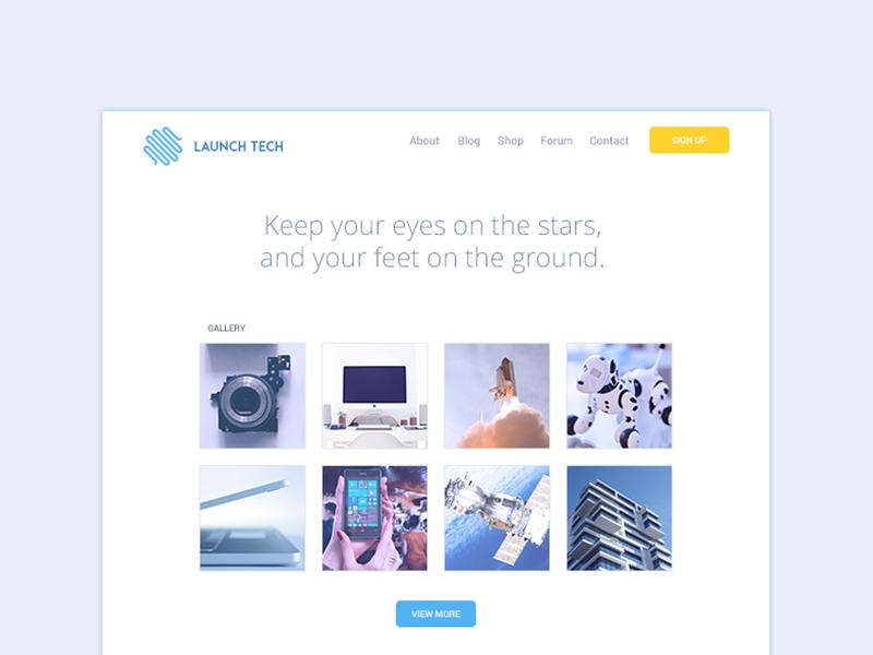 Company Website UI