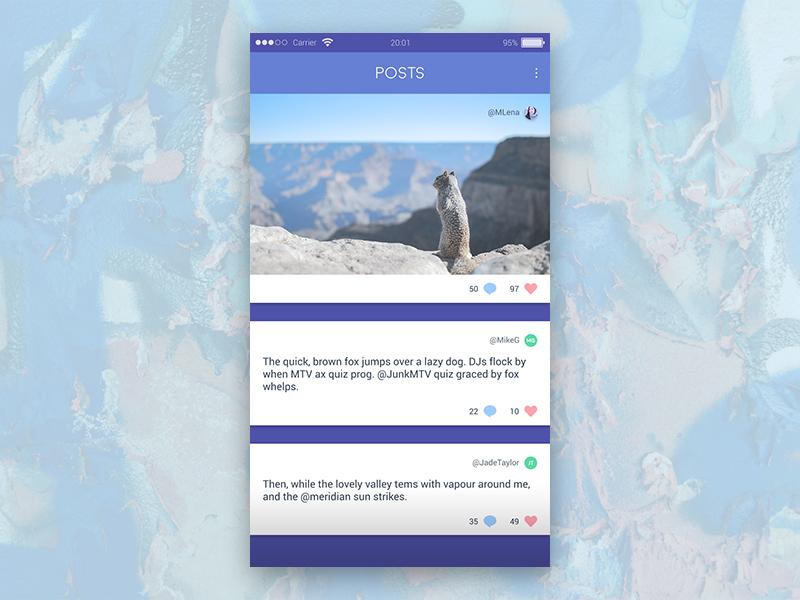 Posts Feed App UI