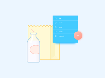 Shopping list Widget