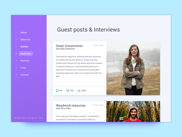 Interview page UI preview picture