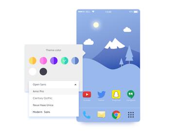 Color theme picker UI